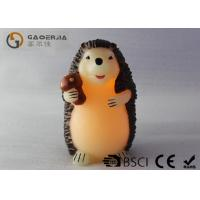 Decorative Flameless Candles , Battery Operated Pillar Candles Hedgehog Shaped