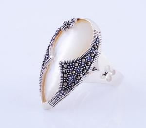 China Thai Silver Marcasite Ring on sale