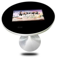 Indoor Round Style Coffee Wireless Charger In It Capacitive Touch 22 Inch Touch Screen Coffee Table