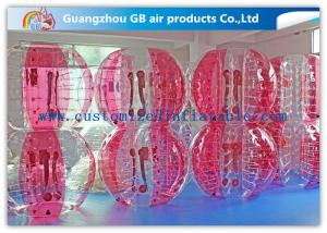 China Pink Human Inflatable Bubble Ball / Inflatable Ball Suit Soccer For Rental Business on sale