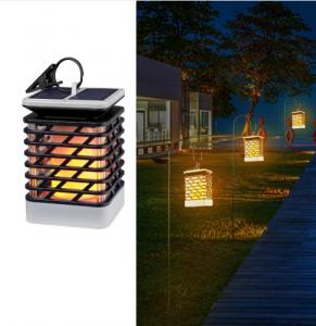 China LED Solar Lamp Flickering Smokeless Flameless Candle Waterproof Flame Lamp on sale