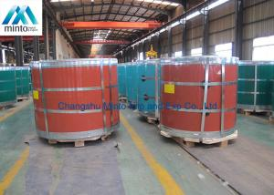 China 5052 H38 Aluminium Colour Coated Coil Anti Finger With PE / PVDF Coating on sale