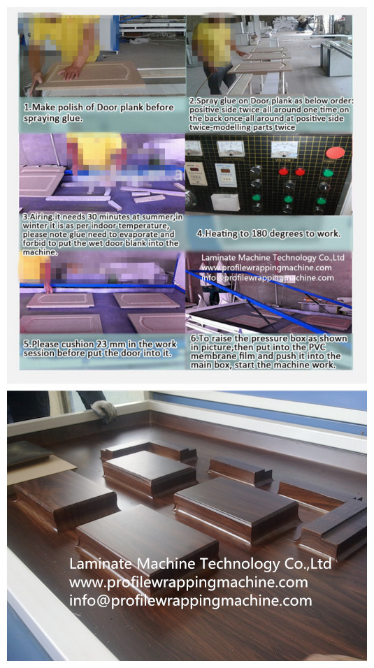 PVC Wood Vacuum Membrane Press Machine for Kitchen