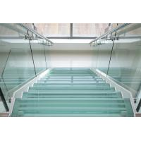 tempered glass for curved internal stairs hand rails as well as for balcony handrails
