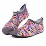 Van Gogh Style Aqua Water Shoes / Protective Barefoot Slip On Swim Shoes