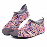 China Van Gogh Style Aqua Water Shoes / Protective Barefoot Slip On Swim Shoes on sale