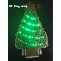China Beautiful Christmas Tree Shaped Optic custom music greeting cards on sale