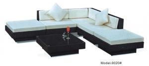 China 5piece - Rattan wickergarden furniture patio outdoor backyard sectional sofa Hotel L shape sofa -9020 on sale