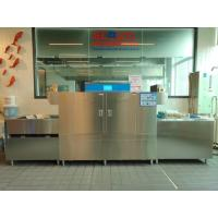 China Two Washing Tank Commercial Flight Type Dishwasher For Restaurant Double Insulation on sale