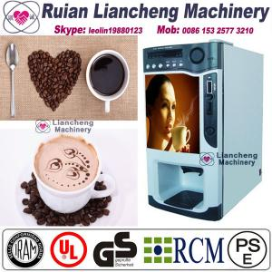 China coffee grinder machine  Bimetallicraw material 3/1 microcomputer Automatic Drip coin operated instant on sale