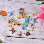 Pre Cut Mixed Edible Cupcake Decorations Rice Paper Butterflies For Cakes