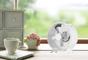China Smal Retro Desk Fan / 2 Speed 4 Blade Stainless Electric Fan For Home Appliance on sale