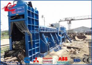 China Hydraulic Scrap Baling Press Shearing Machine , Scrap Steel Cutting Machine With Electric Motor Power on sale