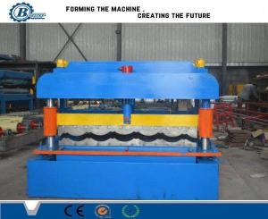 China 5.5KW Metal Steel Roof Tile Roll Forming Machine / Roof Tiles Making Machine For House Use on sale