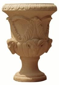 China Hot sell high quality sandstone flower pots with pedestal on sale