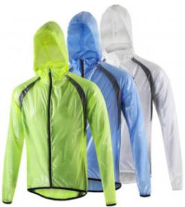China Plain Dyed Warm Raincoat With Hood , Long Sleeve Lightweight Waterproof Jacket on sale