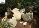 Playground Park Dinosaur Garden Statue Hatching Animatronic Dinosaur Egg Decoration