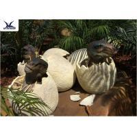 Playground Park Dinosaur Garden Statue Hatching Animatronic Dinosaur Egg Decoration