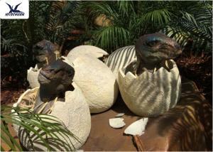 China Playground Park Dinosaur Garden Statue Hatching Animatronic Dinosaur Egg Decoration on sale