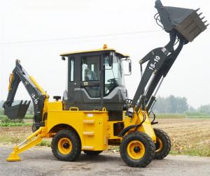 Quality 1000kg Load Heavy Construction Machinery / Mini Backhoe Wheel Loader With 0.15 for sale