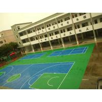 China Paint Coating Abrasion Resistant Acrylic Sports Flooring With Blue Color on sale