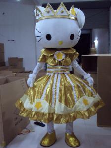 Quality handmade full-body cartoon Hello-Kitty mascot fansy dress costumes for sale
