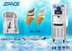 3 Flavor Commercial Single Phase Soft Serve Ice Cream Machine Low Working Noise