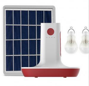 China MP3 Radio 3 LED Bulbs Light Solar Power Panel Generator Kit USB Home Charger System on sale