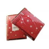 Rigid Envelope Aluminium Metallic Bubble Mailer With Stunning Red Chirstmas Designs