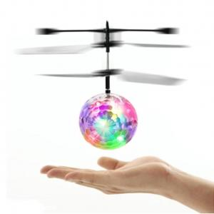 China Flying Disco Ball- Rascal Mini Flying Ball, LED Flashing Helicopter Ball Built-in Shinning LED Lighting for Kids on sale