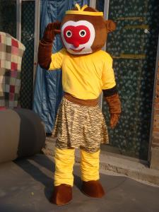 Quality monkey king mascot cartoon party costume for sale