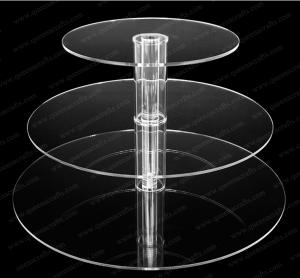 China CD (130) clear plastic cake stand with tube on sale