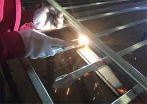 China Steel Garrison Fence Panels Stain Black Powder Coated 2.1m*2.4m width Rails SHS40mm*1.6mm on sale