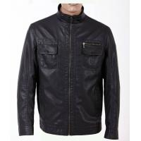 China Size 52, Classic and Black Charm Men Lightweight PU Leather Motorcycle Jackets on sale
