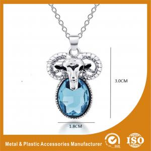 China Zinc Alloy Stainless Steel Chain Necklace With Sheep Pendant on sale