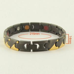 China Improve Arthralgia Stainless Steel Black Medical Id Bracelet,Bio Element Bracelet on sale