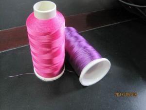 China Green Blue Colorful Embroidery Thread , Coats Embroidery Thread on sale