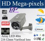 Cámaras IP de HD con p2p, WDR, tarjeta POE del TF