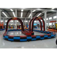 Outdoor Games Inflatable Race Track , Inflatable Air Tumble Track / Go Kart Track