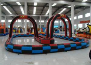 China Outdoor Games Inflatable Race Track , Inflatable Air Tumble Track / Go Kart Track on sale