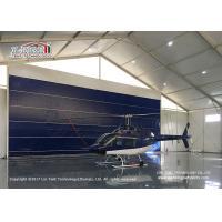 High Reinforce  Aluminum Frame Blue Door Aircraft Hangar Tent for Helicopter