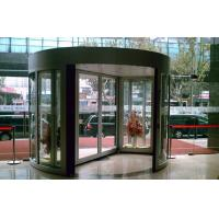 Aluminum alloy frame Tempered Glass Arc Automatic Door with show case