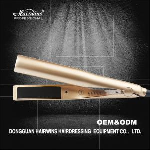 China new 2 in 1 hair straightener Gold-plated titanium custom flat irons with private label on sale