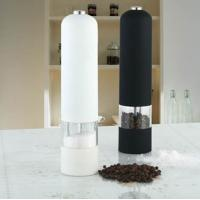 China White or black household small Stainless Steel Pepper Mill, grinders on sale
