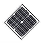 20 / 30 Watt Monocrystalline Solar Module Charging For Garden Light System