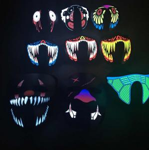 China Ledes Party Holiday or other festival Voice activated Breathable light up music led/el mask for Parties Fashion Mask supplier