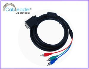 China 24K Gold plated 15 pin VGA Monitor Cables for Y / Pr / Pb component RGB display system on sale
