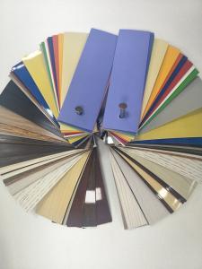 China Asia most popular wood grain PVC sheet/band edge banding stripe of kitchen furniture on sale