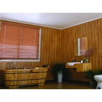 Wooden Laminated Decorative Ceiling Panels , Recyclable Pvc Wall Covering 250*8mm