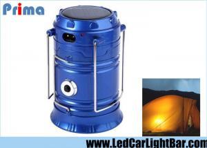 China lanternas de acampamento solares de 4W 350 LM, acampamento conduzido recarregável de 6 x 3528 luzes de SMD on sale
